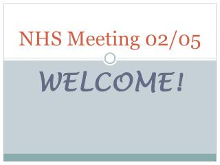 NHS Meeting 02/05