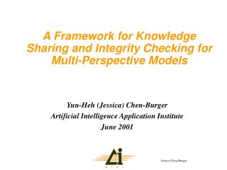 A Framework for Knowledge Sharing and Integrity Checking for Multi-Perspective Models