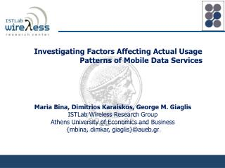 Investigating Factors Affecting Actual Usage Patterns of Mobile Data Services