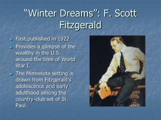 """Winter Dreams"": F. Scott Fitzgerald"