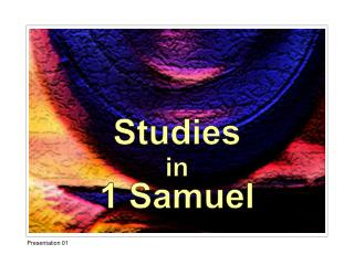 Studies in 1 Samuel