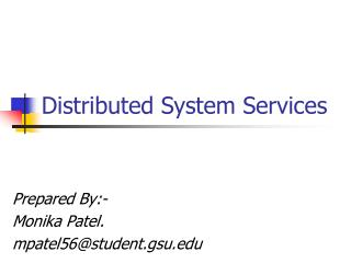 Distributed System Services
