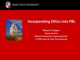 Incorporating Ethics into PBL