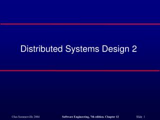Distributed Systems Design 2