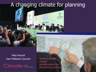 A changing climate for planning