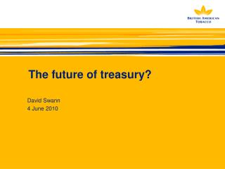 The future of treasury?