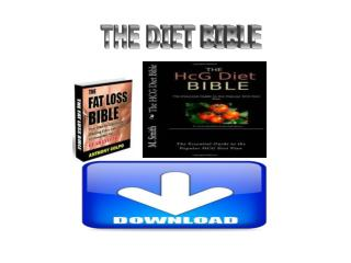 The Diet Bible scam