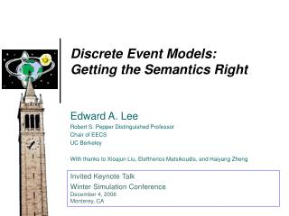 Discrete Event Models:  Getting the Semantics Right