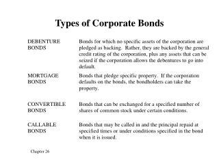 Types of Corporate Bonds