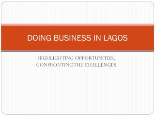 DOING BUSINESS IN LAGOS