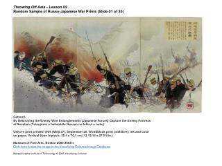 Throwing Off Asia  – Lesson 02 Random Sample of Russo-Japanese War Prints (Slide 01 of 20)