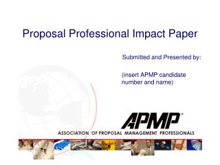Proposal Professional Impact Paper