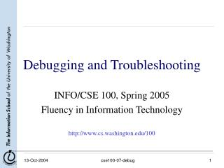 Debugging and Troubleshooting
