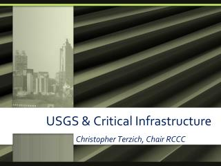 USGS & Critical Infrastructure