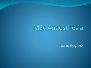MSc Anaesthesia