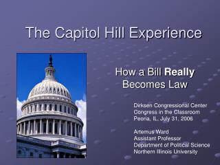 The Capitol Hill Experience