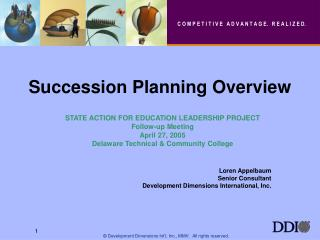Succession Planning Overview