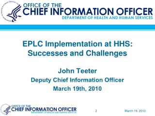 EPLC Implementation at HHS: Successes and Challenges