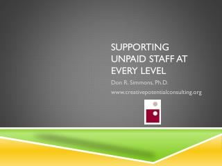 Supporting Unpaid Staff at Every Level