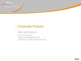 scope of corporate finance