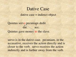 Dative Case