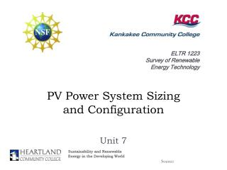 PV Power System Sizing  and Configuration