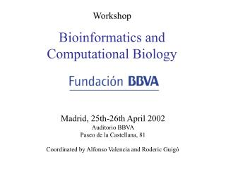 Workshop Bioinformatics and  Computational Biology