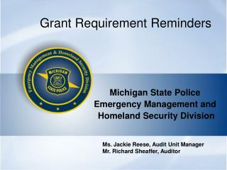 Grant Requirement Reminders