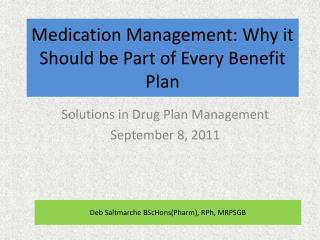 Medication Management: Why it Should be Part of Every Benefit Plan