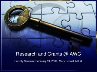 Research and Grants @ AWC