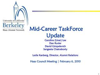 The Mid-Career Taskforce