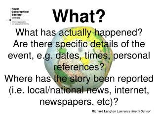 What? What has actually happened? Are there specific details of the event, e.g. dates, times, personal references?