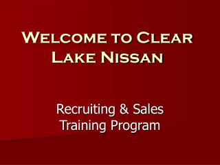 Welcome to Clear Lake Nissan