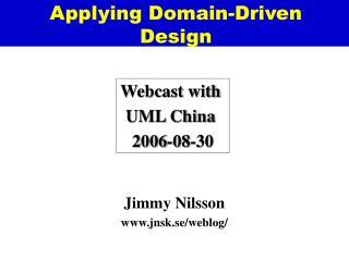 Applying Domain-Driven Design