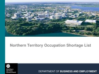 Northern Territory Occupation Shortage List