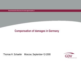 Compensation of damages in Germany