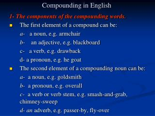 Compounding in English
