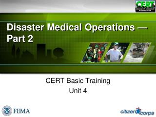 Disaster Medical Operations — Part 2