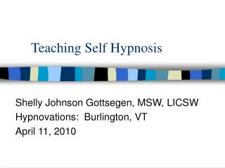 Teaching Self Hypnosis