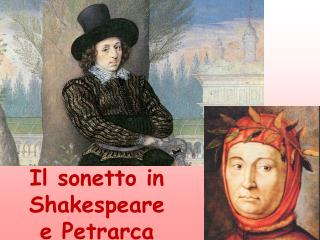 Il sonetto in               Shakespeare  e Petrarca
