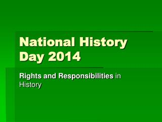 National History Day 2014