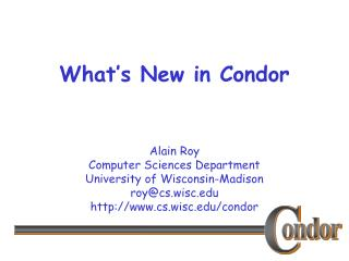 What's New in Condor