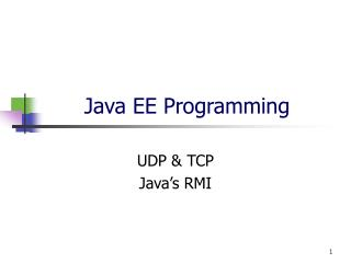 Java EE Programming