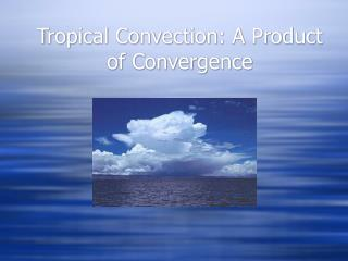 Tropical Convection: A Product of Convergence
