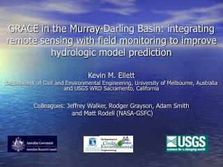 GRACE in the Murray-Darling Basin: integrating remote sensing with field monitoring to improve hydrologic model predicti