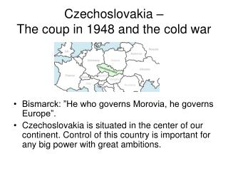 Czechoslovakia – The coup in 1948 and the cold war
