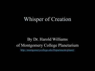 Whisper of Creation