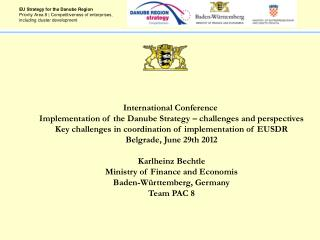 EU Strategy for the Danube Region Priority Area 8 | Competitiveness of enterprises, including cluster development