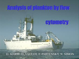Analysis of plankton by flow