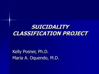 SUICIDALITY CLASSIFICATION PROJECT